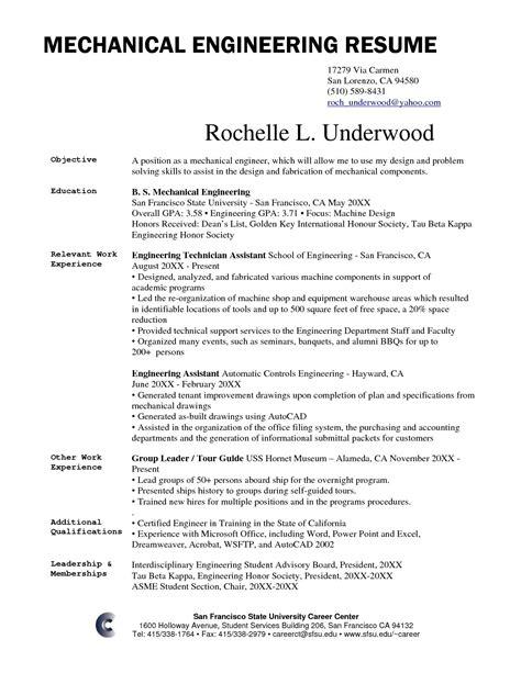 sample resume for mechatronics engineering engineering bs bob jones university - Mechatronics Engineer Sample Resume