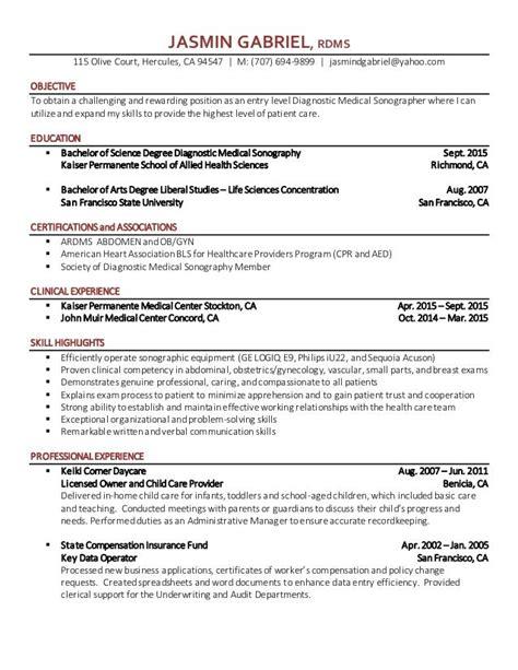 Sample Resume For Entry Level Warehouse Entry Level Sonographer Sample Resume Example