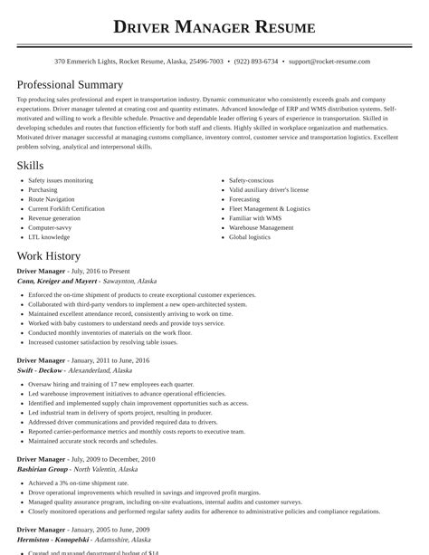 resume sample resume executive driver word 2010 resume template location sample for executive driver position example - Sample Resume For Executive Driver Position