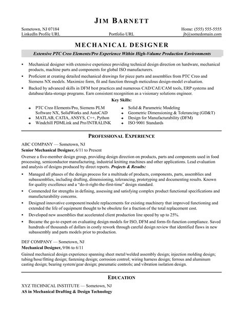 sample resume senior design engineer sample resume for an experienced mechanical designer - Analog Design Engineer Sample Resume