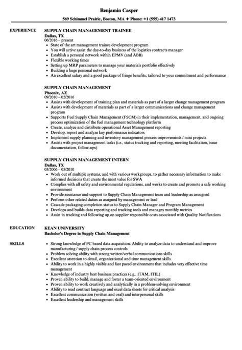 Supply Chain Management Resume | Cover Letter