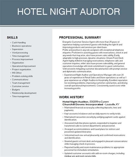 sample resume for hotel night manager hotel night manager cover letter sample o resumebaking - Sample Resume For Hotel Manager