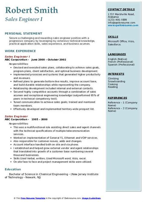 sample resume sales marketing engineer it sales engineer resume example - Marketing Engineer Sample Resume