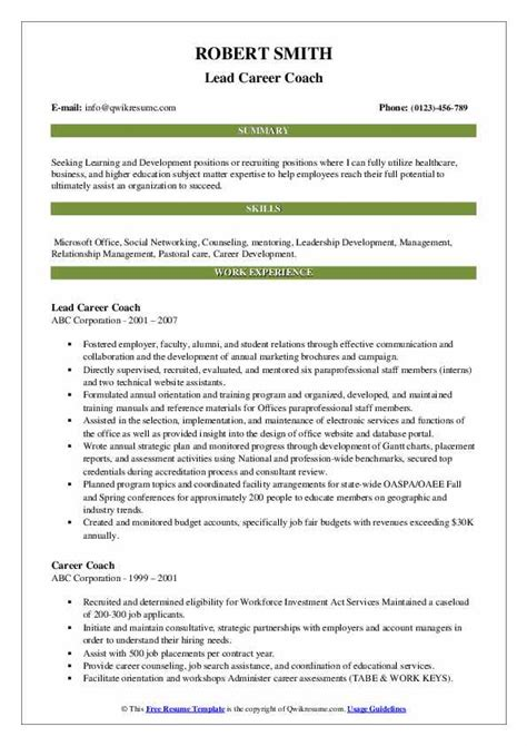 Sample Resume For A Job Coach Job Coach Resume Sample