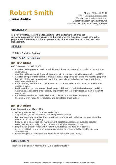 Resume Sample Resume Of Junior Auditor example of curriculum vitae for job application pdf sample resume junior auditor fields nemec co