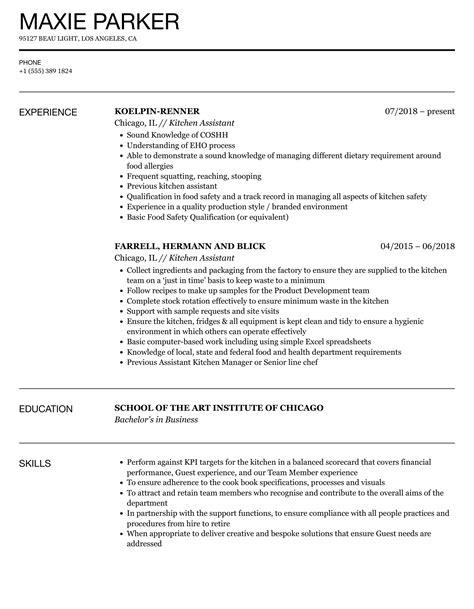 Sample Resume Assistant Kitchen Manager Kitchen Assistant Resume Sample Best Sample Resume