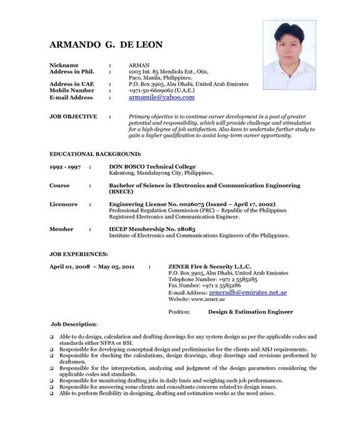 Sample Resume Fresh Graduate Pharmacist Latest Cv Format Cv Format