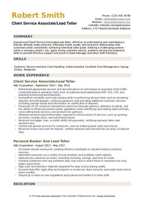 sample resume for head bank teller lead teller resume sample teller resumes livecareer head teller