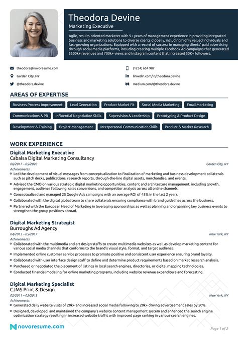 Sample Resume Sales Marketing Executive Marketing Sales Executive Resume Example