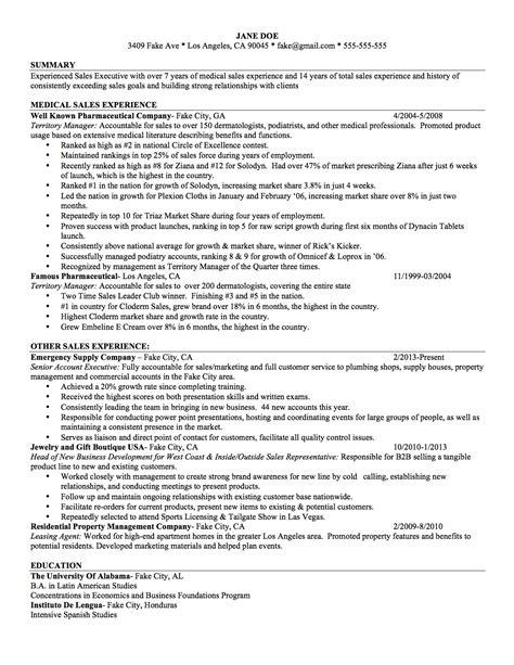 Sample Resume Sales Achievements Medical Sales Resume Sample Medical Sales Representative