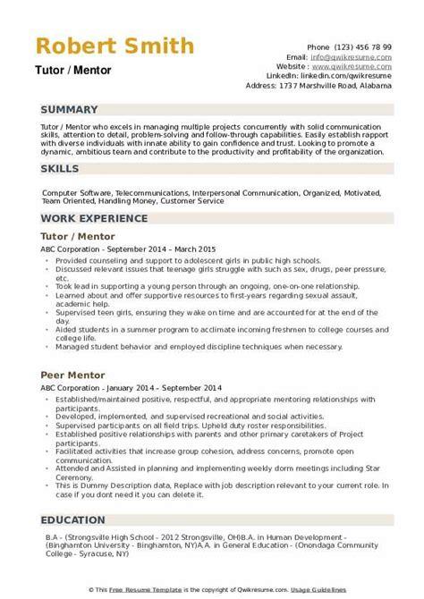 Resume Sample Resume Student Mentor sample resume student mentor banks 9th bipartite agreement teacher livecareer