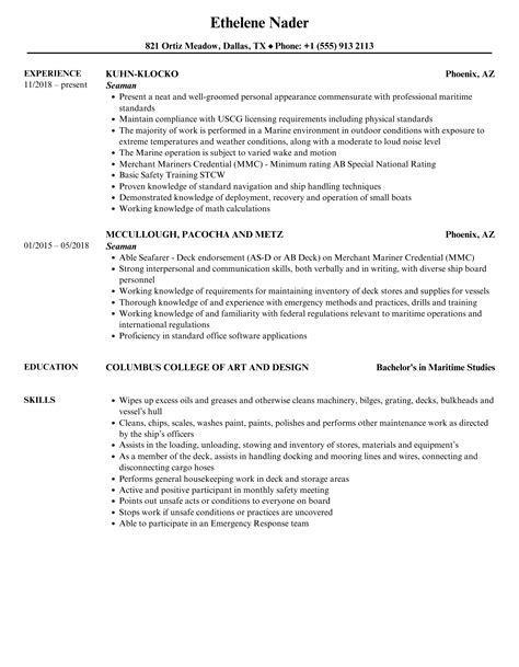 Sample Resume Nursing Assistant Entry Level Merchant Marine Ordinary Seaman Resume Cppmusic