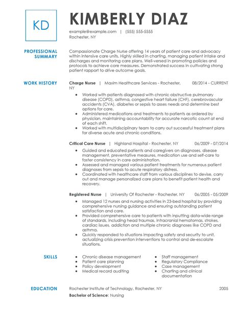 nursing professor resume examples