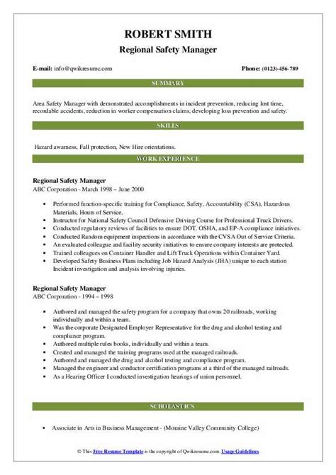 resume hse manager 3 - Regional Hse Manager Resume