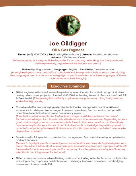 sample resume mechanical engineer oil gas resume format for