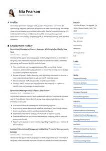 Sample Resume For Business Manager Position Operations Manager Resume Sample