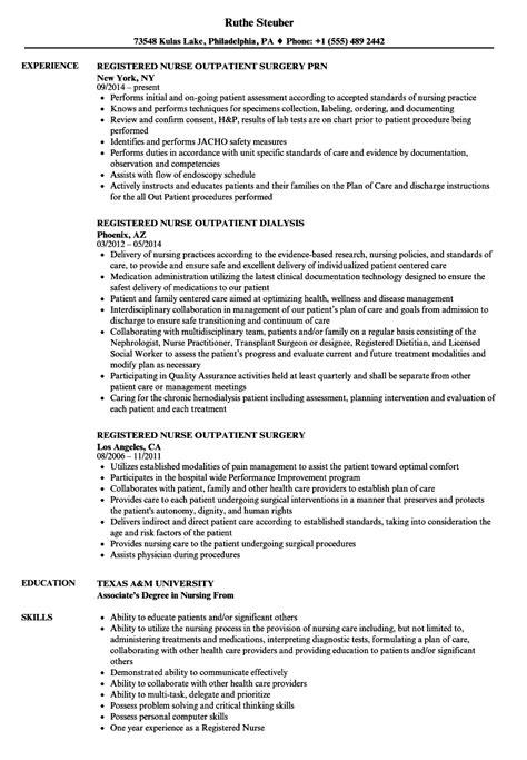 professional resume for nurses