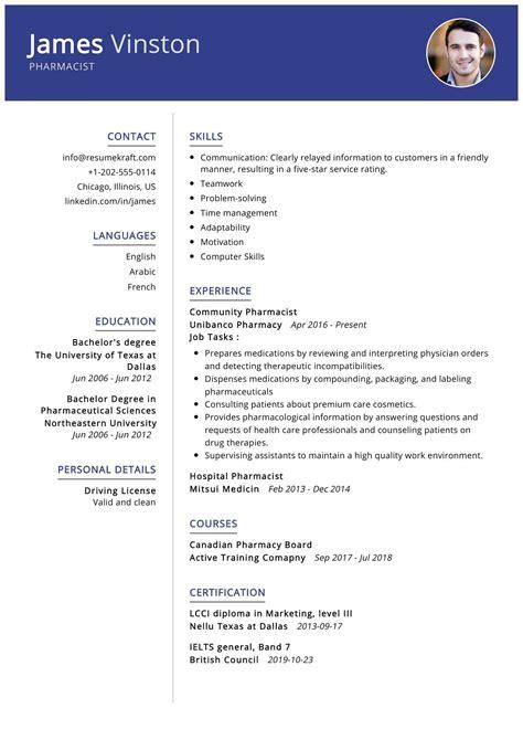 Sample Resume For Experienced Pharmacist Pharmacist Resume Sample Monster