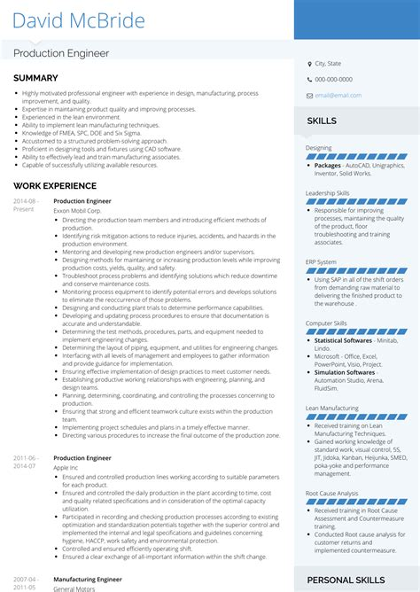 sample resume for mechanical production engineer production engineer resume sample engineering resumes - Production Engineer Sample Resume
