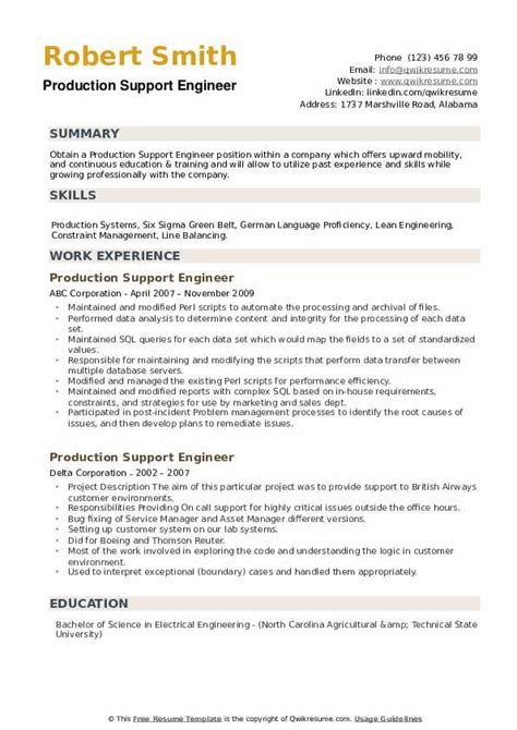 sample resume for production support analyst dispatcher job