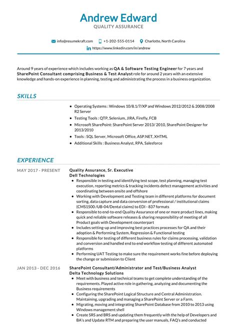 Sample Resume For Call Center Quality Assurance Quality Assurance Job Description Full Qa Job Details