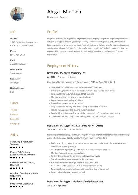 sample resume restaurant serving skills restaurant manager resume sample dayjob - Sample Resume For Restaurant Server