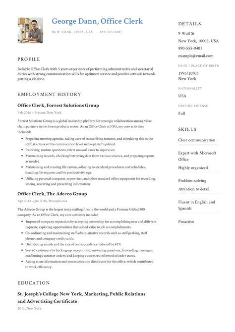 sample resume uk resume sample clerical office work good resume tips - Clerical Resume Sample