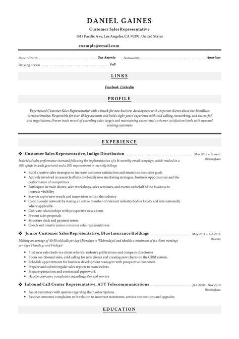 Sample Resume For Inside Sales Representative Sales Customer Service Resume Samples Velvet Jobs