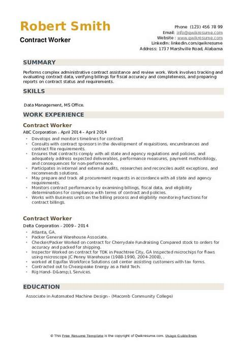 Sample Resume Labourer Position Sample Employment Contract Doc File Labour