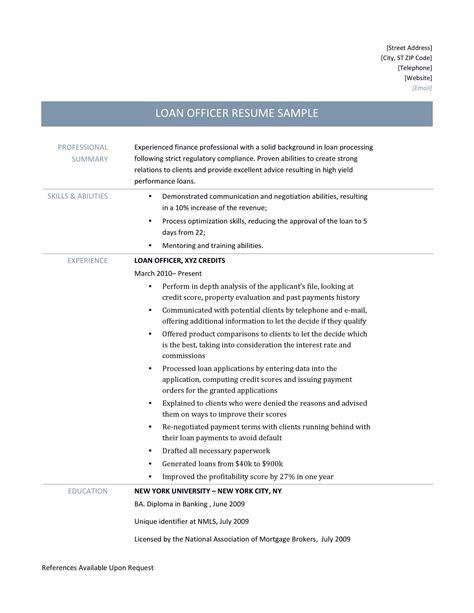 Sample Resume Bank Officer Sample Loan Officer Resume Cvtips