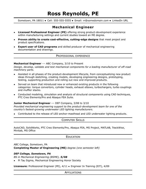 sample resume of mechanical project engineer sample mechanical project engineer resume how to write - Mechanical Project Engineer Sample Resume