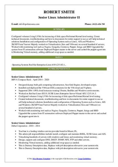 sample resume for unix system administrator sample resume linux system administrator dice insights - Unix Administration Sample Resume