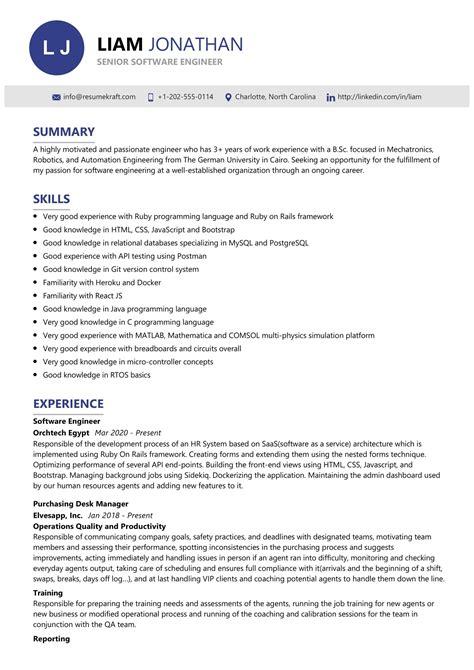 best resumes software engineers sample resume senior software engineer dice insights - Sample Resume Software Engineer