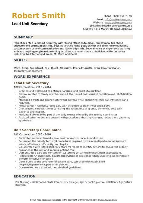 church secretary duties resume secretary job description ingham
