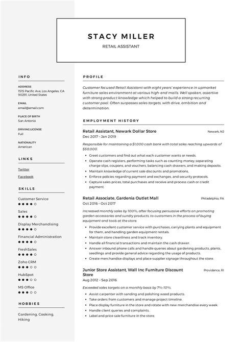 resume skills retail sample retail resume resume
