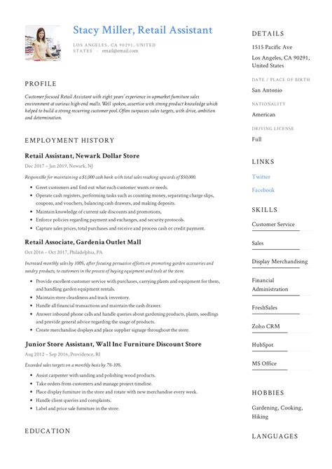 sample retail resume templates resume templates template for resumes