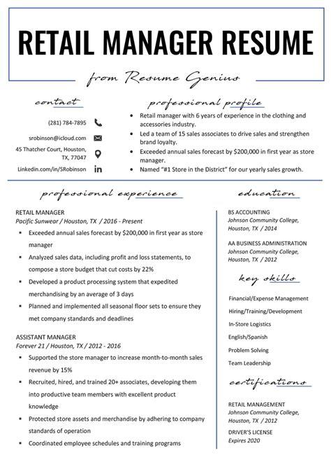 sample retail pharmacist resume retail manager resume sample monster
