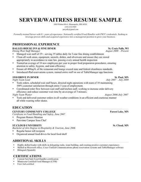 head waiter resume samples visualcv resume samples database free sample resume cover waiters resume sample server - Resume Executive Summary Sample