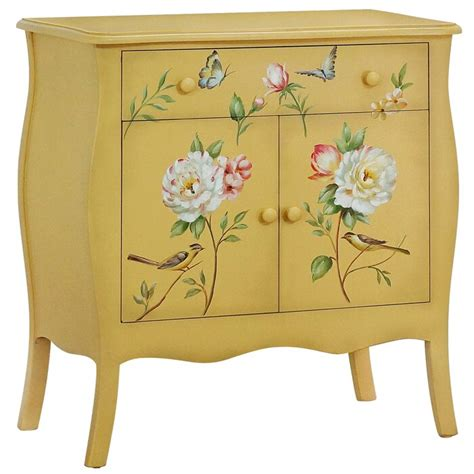 Sanger Hand-Painted 1 Drawer Accent Cabinet