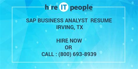 sap business analyst resume sample sap business analyst resume hire it people
