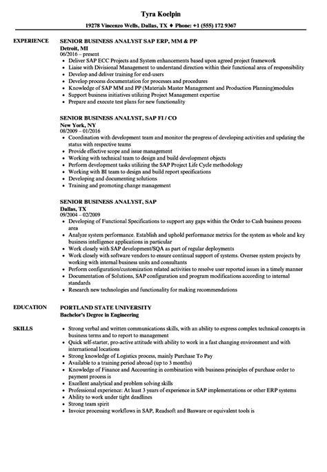 sample data analyst resume senior business analyst resume samples master data management consultant resume sap master - Data Analyst Resume Examples