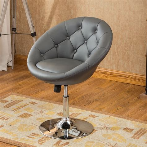 Sarthak Contemporary Tufted Back Tilt Swivel Barrel Chair