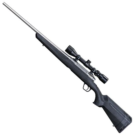 Rifle-Scopes Savage Axis Xp 243 Bolt Action Rifle With Scope Stainless.