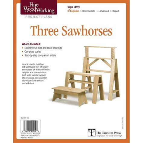 Sawhorse Plans Fine Woodworking