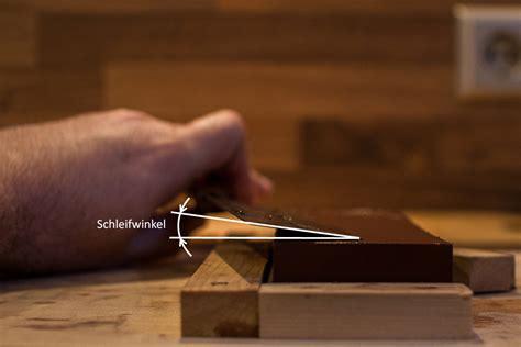 Schleifwinkel Messer