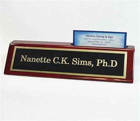 Schreibtisch Namensschild