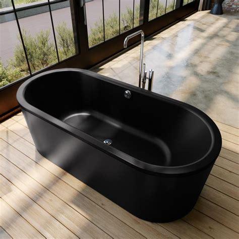 Schwarze Badewanne