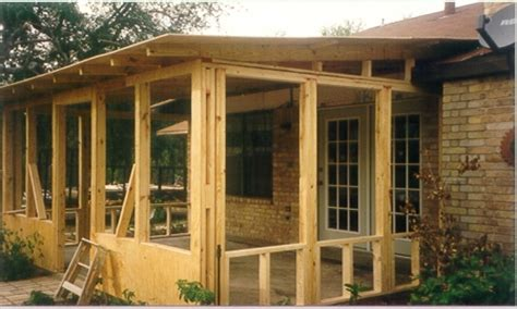 screen porch plans do-it-yourself