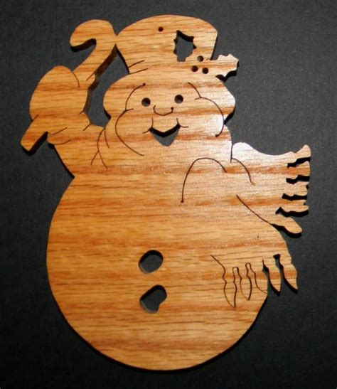scroll saw snowman ornament patterns