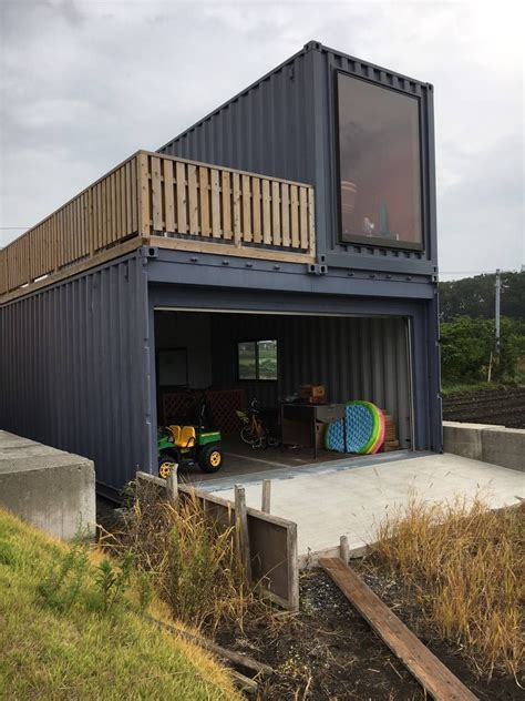 Sea Container Garage Design